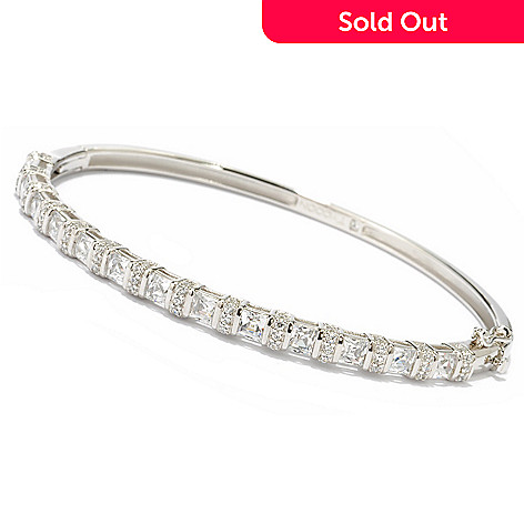119-377 - TYCOON for Brilliante® Platinum Embraced™ 4.49 DEW Square & Round Bangle Bracelet