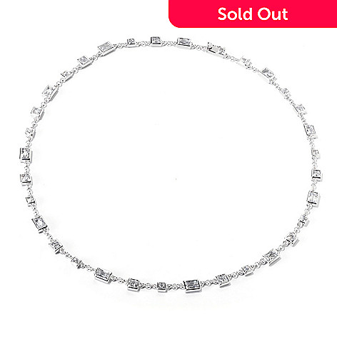 119-379 - TYCOON Platinum Embraced™ Simulated Diamond Rectangular & Square Necklace