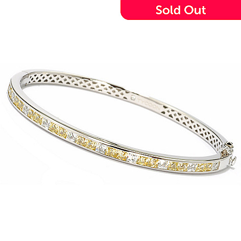 119-383 - TYCOON for Brill Platinum Embraced[ Square Canary Bangle Bracelet