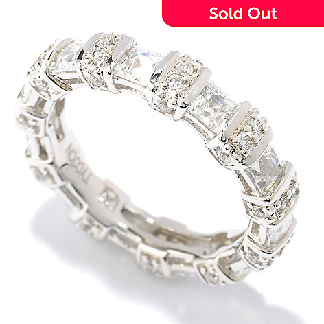 119-391 - TYCOON Platinum Embraced™ Simulated Diamond Square & Round Eternity Band Ring