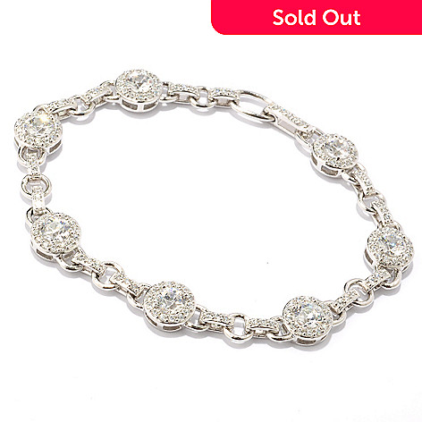119-394 - TYCOON for Brill Platinum Embraced[ Round Halo Link Bracelet