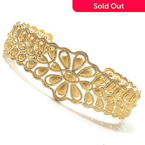 119-411 - Jaipur Bazaar Gold Embraced™ 7'' Satin Finished Cuff Bracelet