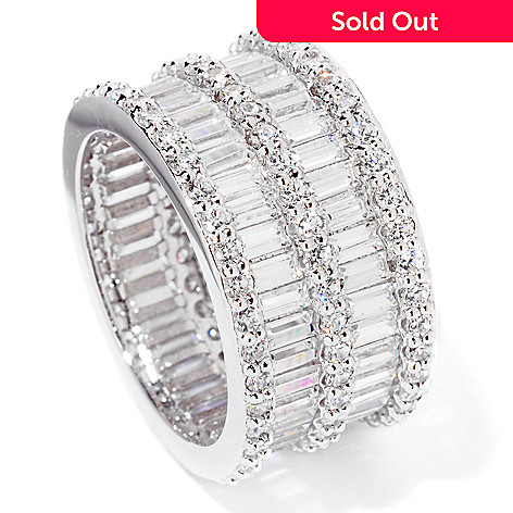 119-442 - Brilliante® Platinum Embraced™ 6.85 DEW Simulated Diamond Eternity Ring
