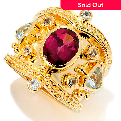 119-479 - Dallas Prince Multi Gemstone Etruscan Ring