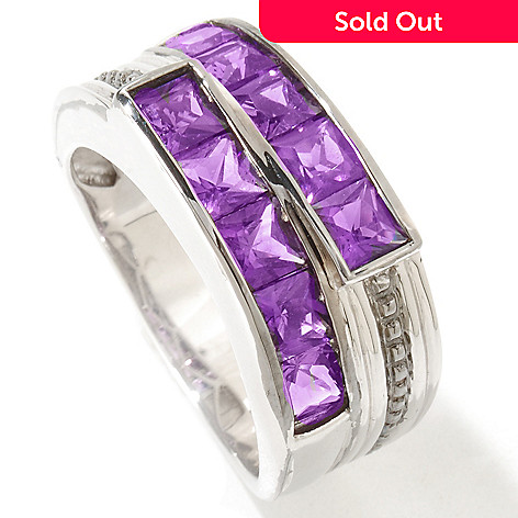 119-520 - Men's en Vogue 3.50ctw Amethyst Band Ring
