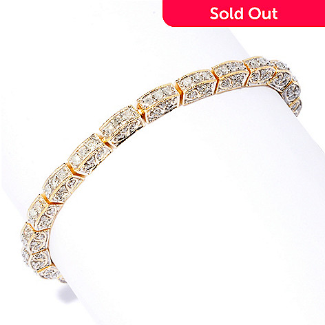 119-590 - Diamond Treasures 14K Gold 8'' 2.75ctw Diamond Anniversary Line Bracelet