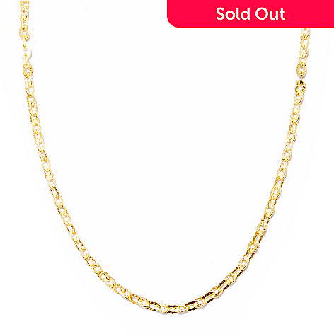 119-748 - Toscana Italiana Gold Embraced™ 20'' Martellato Oval Link Chain Necklace