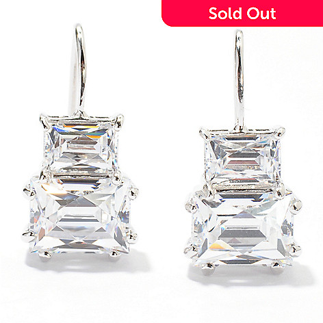 119-879 - TYCOON for Brill Platinum Embraced[ 4.72 DEW Rectangular Cut Drop Earrings