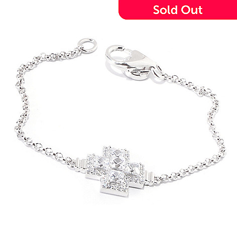 119-883 - TYCOON for Brilliante® Platinum Embraced™ 7.25'' 2.37 DEW Square Cross Bracelet