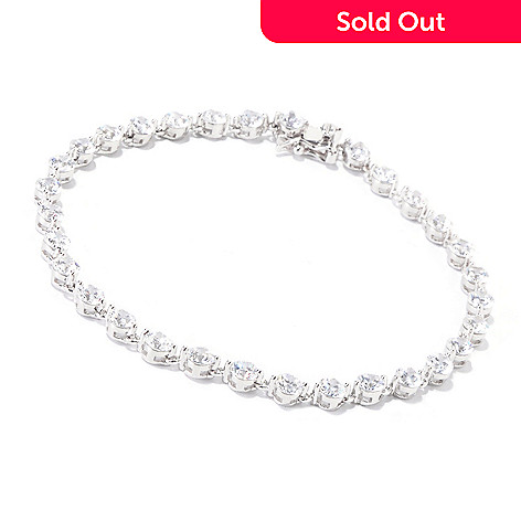 119-891 - TYCOON Platinum Embraced™ Round Simulated Diamond Link Tennis Bracelet