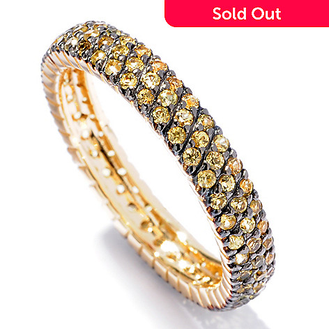 119-907 - EFFY 14K Gold Pave Gemstone Eternity Band Ring