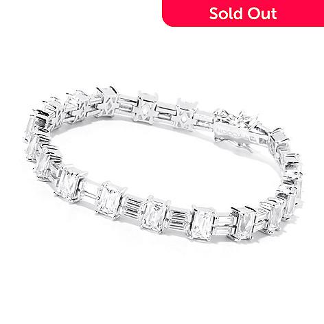 120-169 - TYCOON Platinum Embraced™ Baguette & Rectangle Cut Simulated Diamond Tennis Bracelet