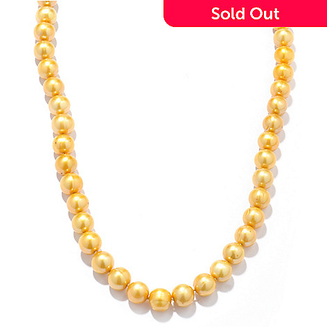 120-198 - Gold Embraced™ 32'' 9.5-10.5mm Freshwater Cultured Pearl Necklace