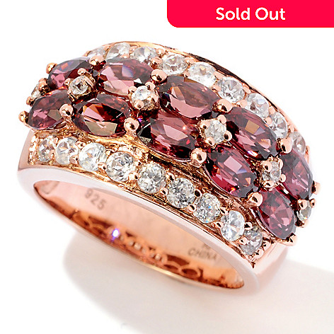 120-228 - NYC II 5.06ctw Raspberry & White Zircon Ring