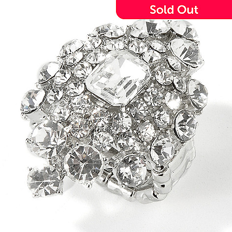 120-240 - The Find Jewelry By Annie G. Multi Crystal ''Madame Marquise'' Adjustable Ring