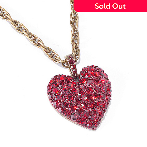 120-253 - Sweet Romance™ 21'' Pave Crystal Heart Necklace