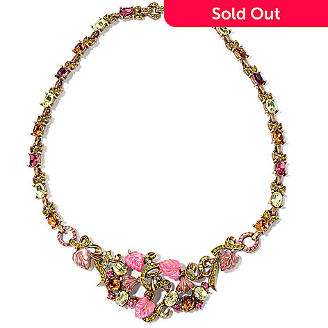 120-285 - Sweet Romance™ 17'' Crystal & Glass 1960's Inspired Necklace