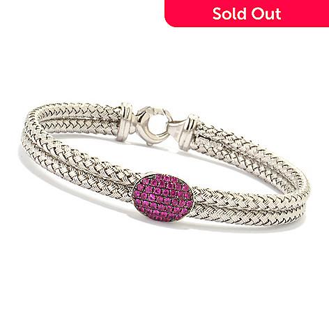 120-338 - EFFY Sterling Silver 7.25'' Ruby Tennis Bracelet