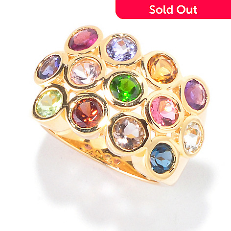 120-358 - NYC II 3.55ctw Bezel Set Multi Gemstone Ring