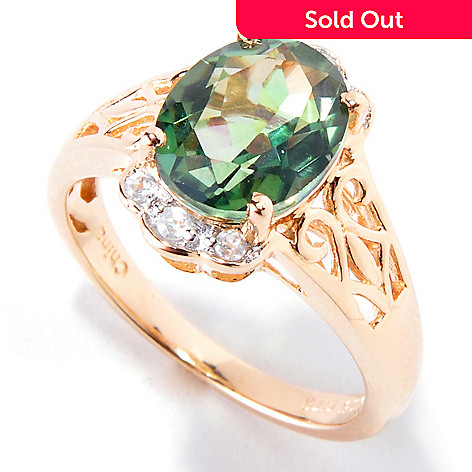 120-362 - NYC II Mystic Chrome Quartz & White Zircon Ring