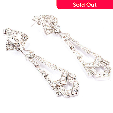 120-501 - Charlie Lapson for Brilliante® 2.86 DEW Vintage-Style Drop Earrings