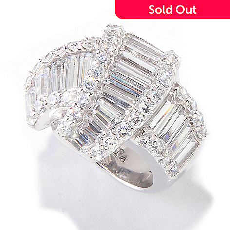 120-516 - Charlie Lapson for Brilliante® Platinum Embraced™ 5.50 DEW Baguette & Round Knot Ring