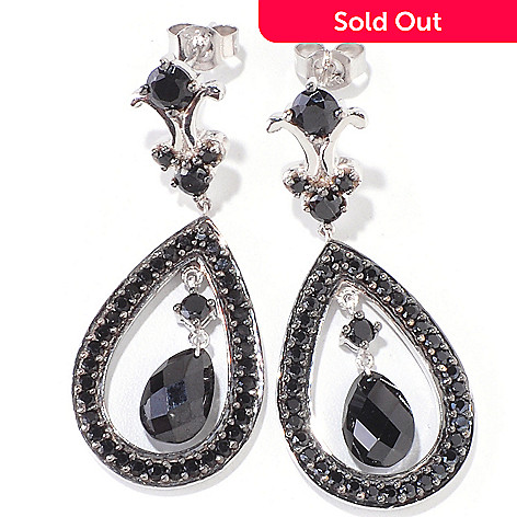 120-528 - Gem Treasures® Sterling Silver 1.5'' 6.98ctw Spinel Teardrop Earrings