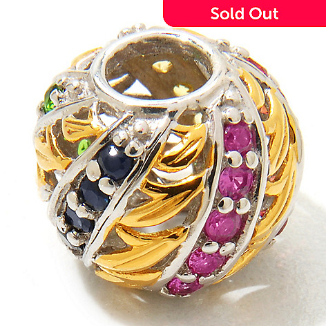 120-542 - Gems en Vogue Fancy Sapphire & Chrome Diopside ''Kaleidoscope'' Charm