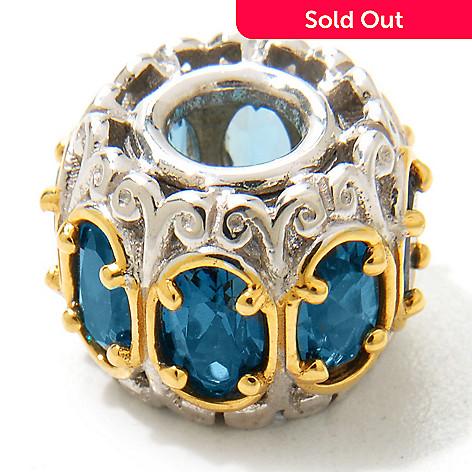 120-543 - Gems en Vogue 2.08ctw London Blue Topaz ''Carousel'' Charm