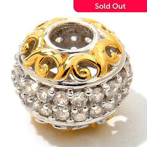 120-545 - Gems en Vogue Pave White Sapphire ''High Roller'' Charm