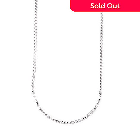120-579 - Diamond Treasures® Sterling Silver 36'' 1.5mm Popcorn Chain Necklace