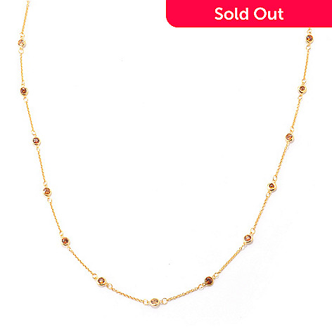 120-589 - NYC II™ 36'' Bezel Set Zircon Station Necklace