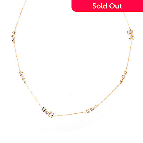 120-686 - TYCOON 7.04 DEW 24'' Bezel Set Simulated Diamond Station Necklace