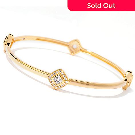 120-687 - TYCOON 1.82 DEW Simulated Diamond Halo Slip-on Bangle Bracelet