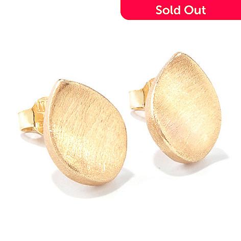 120-766 - Viale18K® Italian Gold Electroform Concave Teardrop Stud Earrings