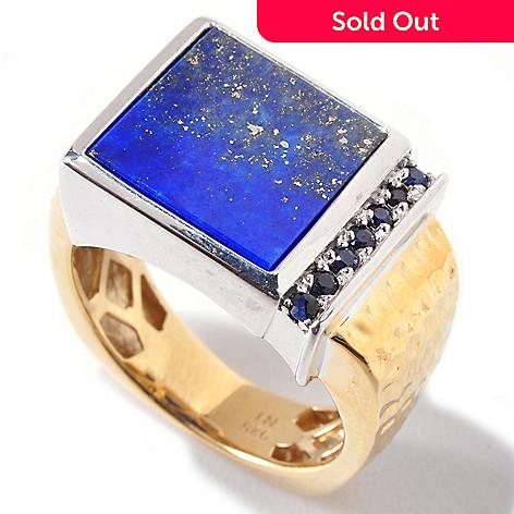120-828 - Men's en Vogue 12mm Lapis Lazuli & Sapphire Ring