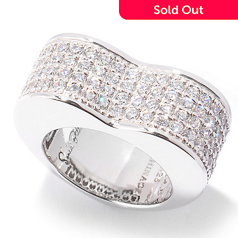 120-834 - Sonia Bitton 1.68 DEW Pave Simulated Diamond Heart-Shaped Ring