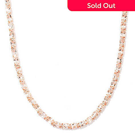 120-886 - NYC II® 21.70ctw Morganite Tennis Necklace