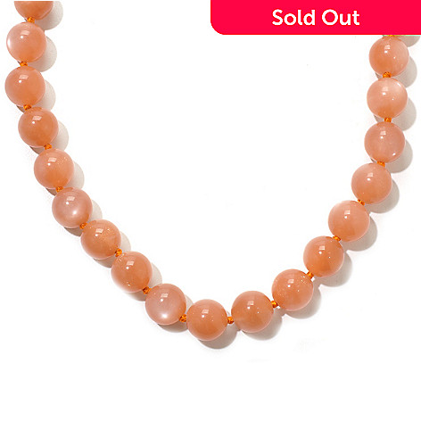 120-939 - Dallas Prince 18'' Peach Moonstone Toggle Necklace