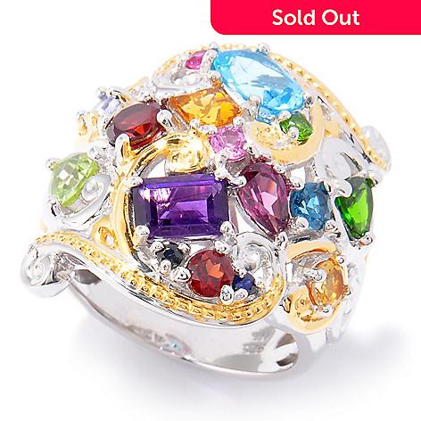 120-961 - Gems en Vogue 3.92ctw Multi Gemstone Ring
