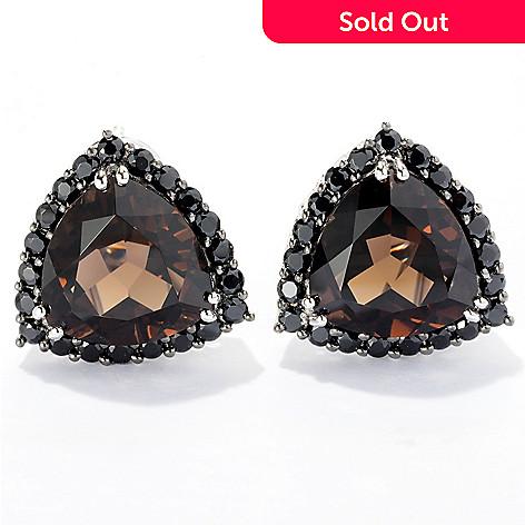 121-130 - NYC II Quartz Trillion & Black Spinel Stud Earrings