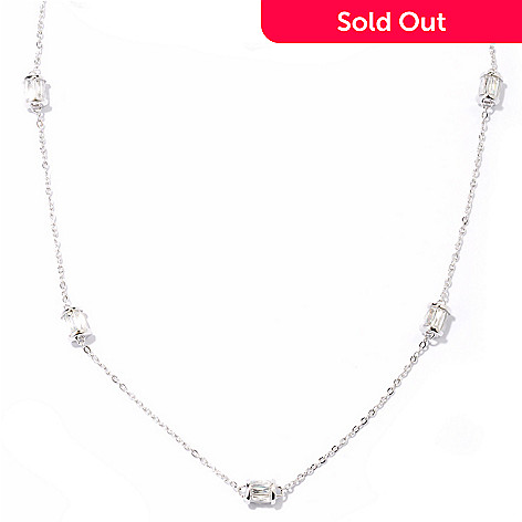 121-158 - TYCOON Platinum Embraced™ 18'' 4.82 DEW Simulated Diamond Rondelle Necklace