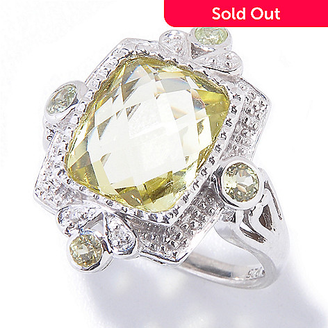 121-205 - NYC II™ 4.56ctw Ouro Verde Quartz, Chrysoberyl & Diamond Ring