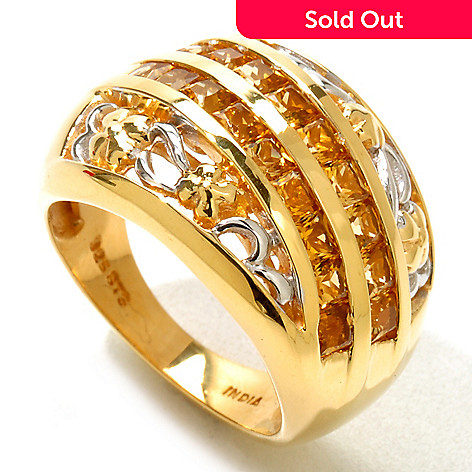 121-215 - NYC II™ 1.26ctw Golden Tourmaline Flower Band Ring