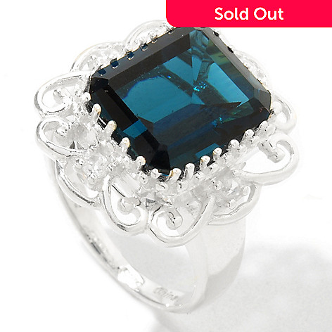 121-218 - NYC II™ 5.04ctw London Blue Topaz & White Zircon Ring