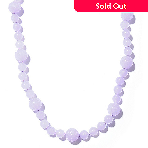 121-263 - 24.5'' Dyed & Natural Jade Bead Toggle Necklace