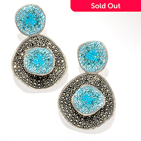 121-290 - Dallas Prince Sterling Silver Crystal Earrings Made w/ Swarovski® Marcasite