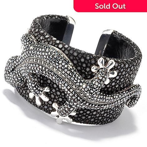 121-304 - Dallas Prince Sterling Silver 6.75'' Bracelet Made w/ Swarovski® Marcasite