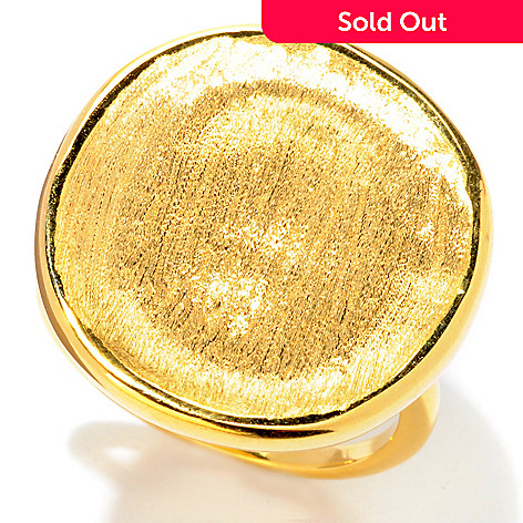 121-341 - Portofino Gold Embraced™ Satin Disk Ring