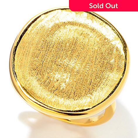 121-341 - Portofino Gold Embraced™ Satin Disk Ring